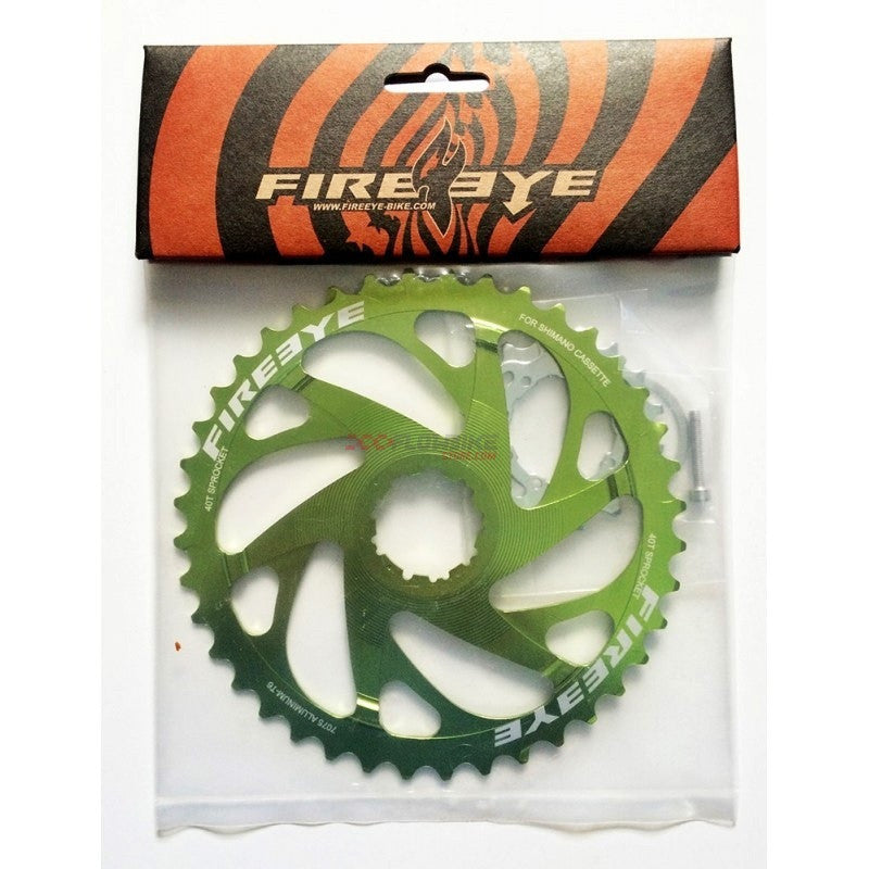 FIREEYE EF 42T SM SPROCKET GREEN - Bike technics