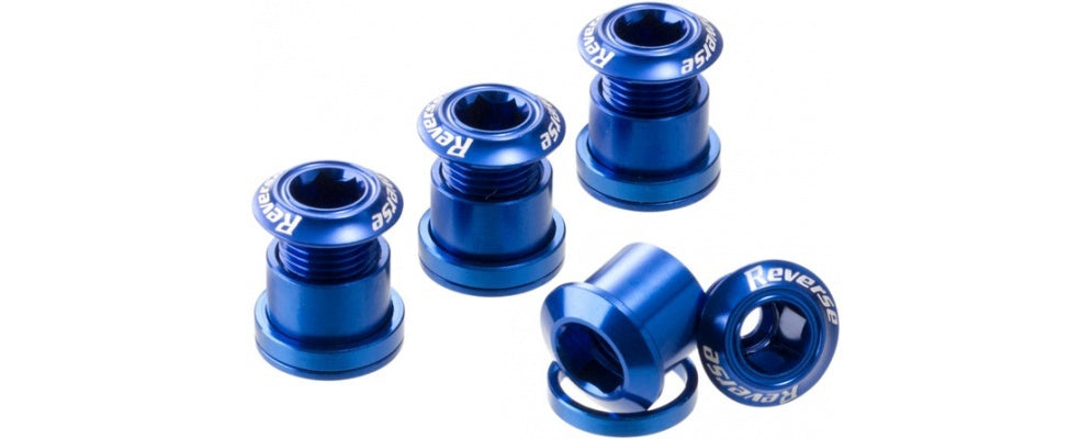 Reverse Chain Ring Bolt Set DARK BLUE
