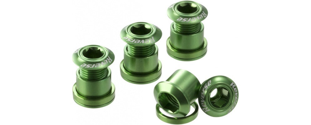 Reverse Chain Ring Bolt Set GREEN