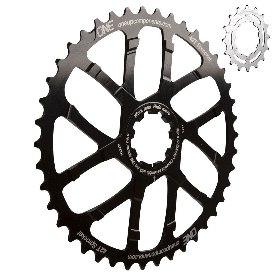 OneUp Components Cassette Cog 42T + 16T BLACK