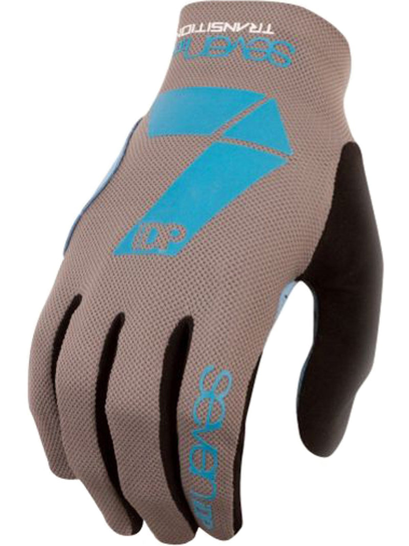 7IDP TRANSITION GLOVE GRAPHITE ELECTRIC BLUE SIZE M - Bike technics