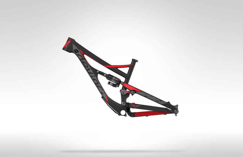 DEVINCI SPARTAN 2016 RED FRAME SIZE S CARBON - Bike technics