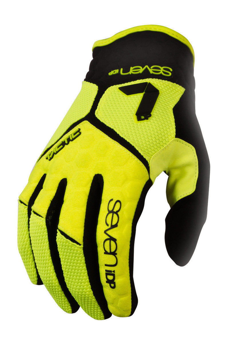 7IDP TACTIC GLOVE LIME/BLACK SIZE S - Bike technics