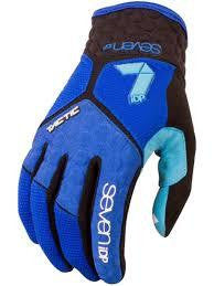 7IDP TACTIC GLOVE NAVY ELECTRIC BLUE SIZE S - Bike technics