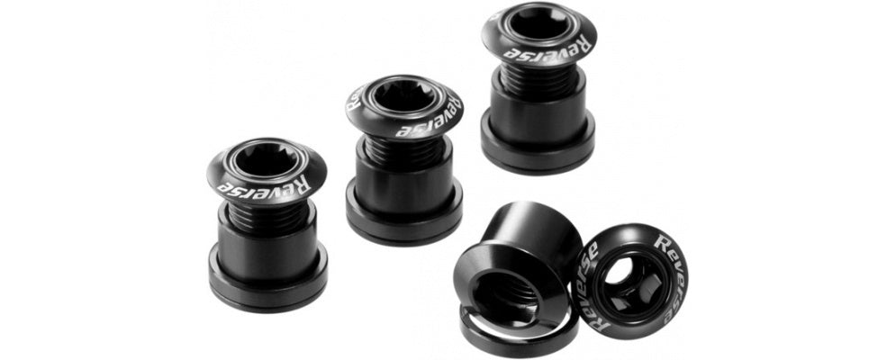 Reverse Chain Ring Bolt Set BLACK