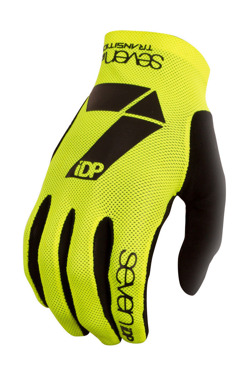 7IDP TRANSITION GLOVE YELLOW BLACK SIZE S - Bike technics