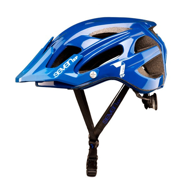 7IDP M4 HELMET GLOSS BLUE/WHITE S/M - Bike technics