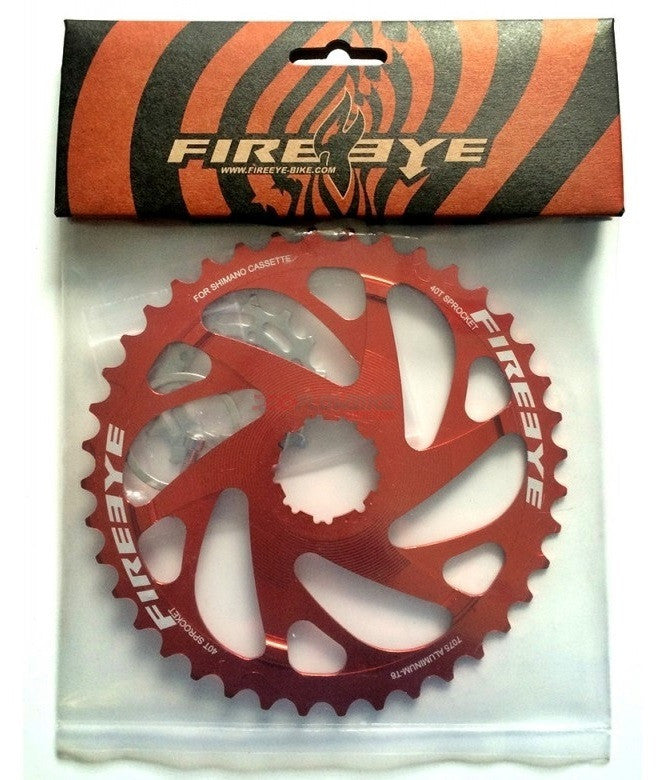 FIREEYE EF 42T SM SPROCKET RED - Bike technics