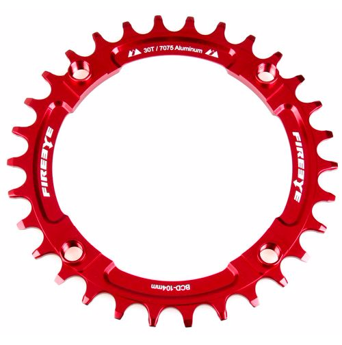 FIREEYE FE N-W CHAIN RING 30T RED - Bike technics
