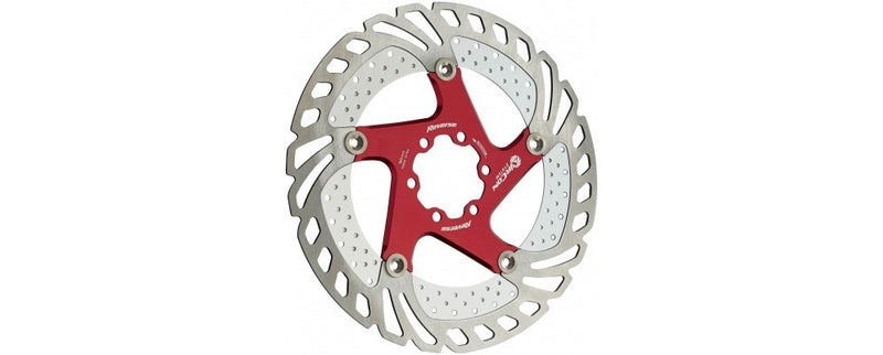 REVERSE DISC ROTOR AIRCON 180MM RED - Bike technics