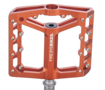FIREEYE BROIL PEDAL CROMOLY AXLE ORANGE - Bike technics