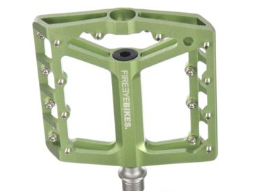 FIREEYE BROIL PEDAL CROMOLY AXLE APPLE GREEN - Bike technics