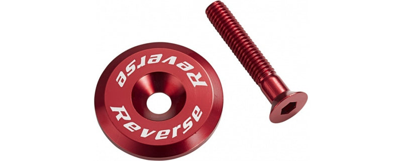 REVERSE HEADSET TOP CAP ALLOY RED