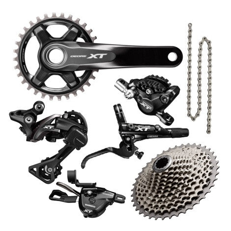 SHIMANO XTM8000 GROUPSET WITH BRAKE AND ROTOR - Bike technics