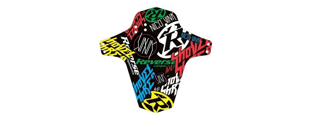 REVERSE MUD GUARD -NICO VINK-STICKERBOMB COLOUR - Bike technics