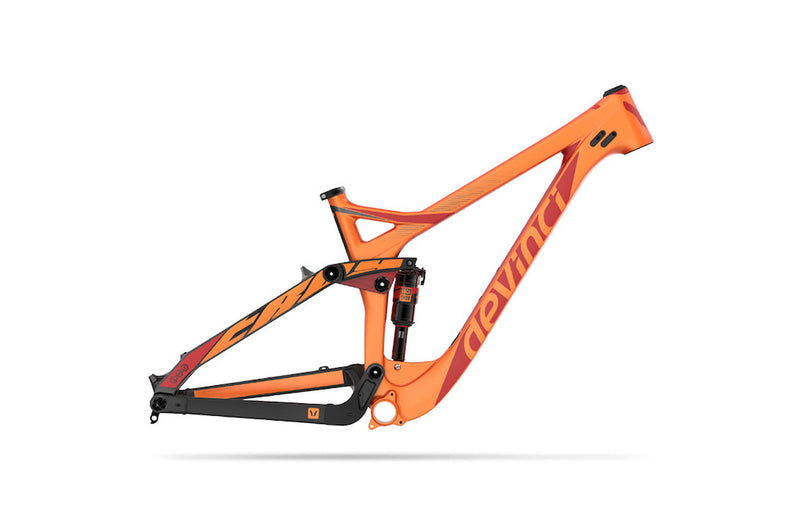 DEVINCI FRAMESET TROY CARBON S ORANGE 2017 - Bike technics