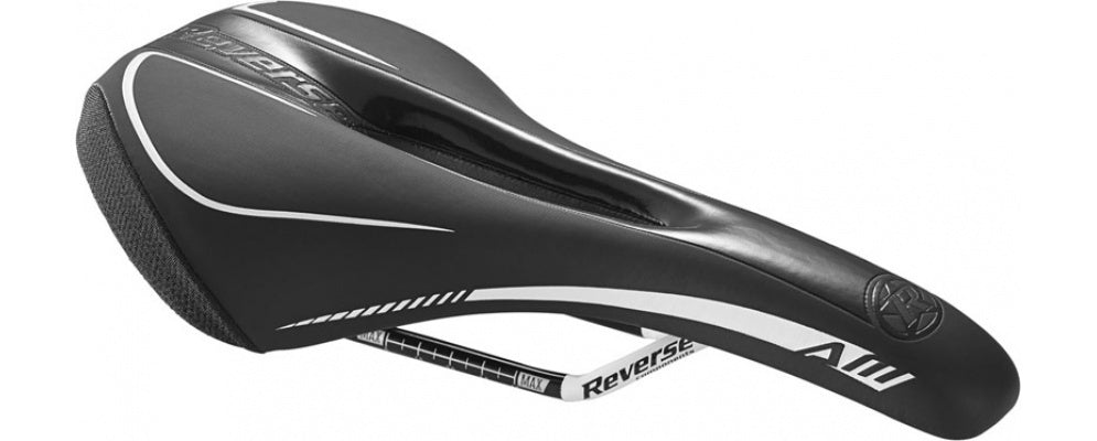 Reverse Saddle AM Chromoly Rails BLACK/WHITE