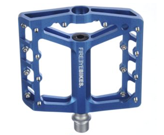 FIREEYE BROIL PEDAL CROMOLY AXLE BLUE - Bike technics
