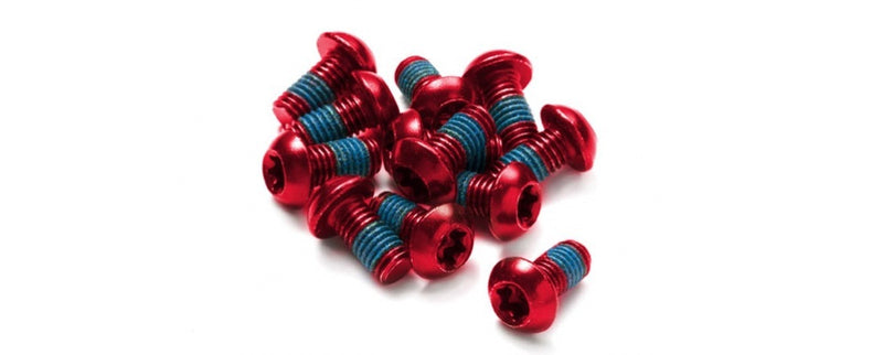 REVERSE DISC ROTOR BOLT SET 12PCS SET RED