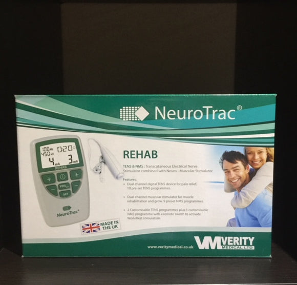 Verity Medical - NeuroTrac REHAB Model NMES / TENS Machine + BONUS PADS in Australia