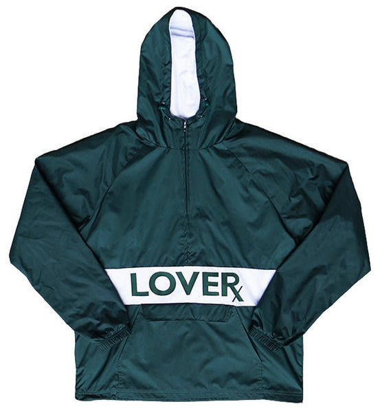 NYLON 1/4 ZIP - GREEN