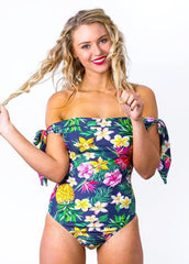 Hermosa Tropical Retro Swimsuit
