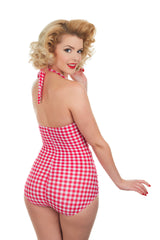 The Bella Donna - Red Gingham Swimsuit