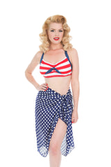Blue And White Polka Dot Sarong