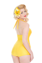 Yellow 1950s Swimsuit
