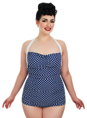 Plus Size Polka Dot Retro Swimsuit