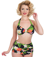 The Carmen - Exotic Flower Retro Bikini Pant