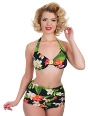 Tropical Retro High Waist Bikini