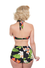 The Carmen - Tropical Flower Retro Bikini Pant