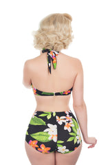 The Carmen - Exotic Flower Retro Bikini Top