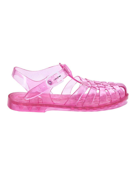 French Jelly Shoes - Pink Glitter