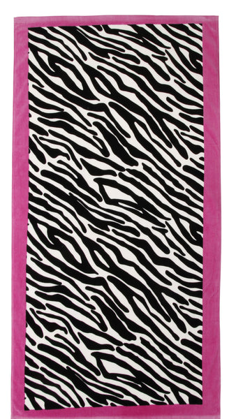 The Wild One - Zebra Print Beach Towel