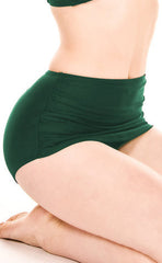 Emerald Green Retro Bikini Pants