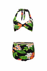 The Carmen - Exotic Flower Retro Bikini