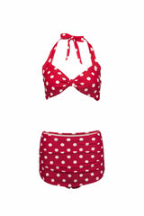 Red and White Polka Dot Bikini