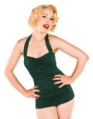 1950s Style Emerald Green Retro Vintage Swimsuit By Esther Williams