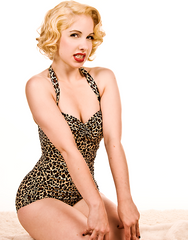 The Neanderdoll - Retro Leopard Print Swimsuit