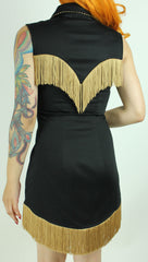 Riley Dress In Black And Gold