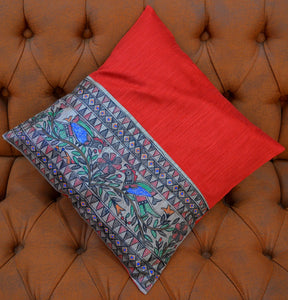 HANDPAINTED CUSHION COVER