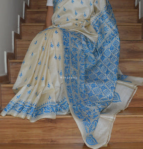 HAND EMBROIDERY SILK SAREE Was INR 9999 Now INR 6999