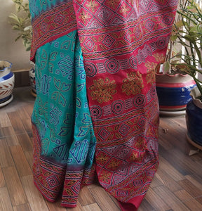 CONTEMPORARY KANTHA SAREE