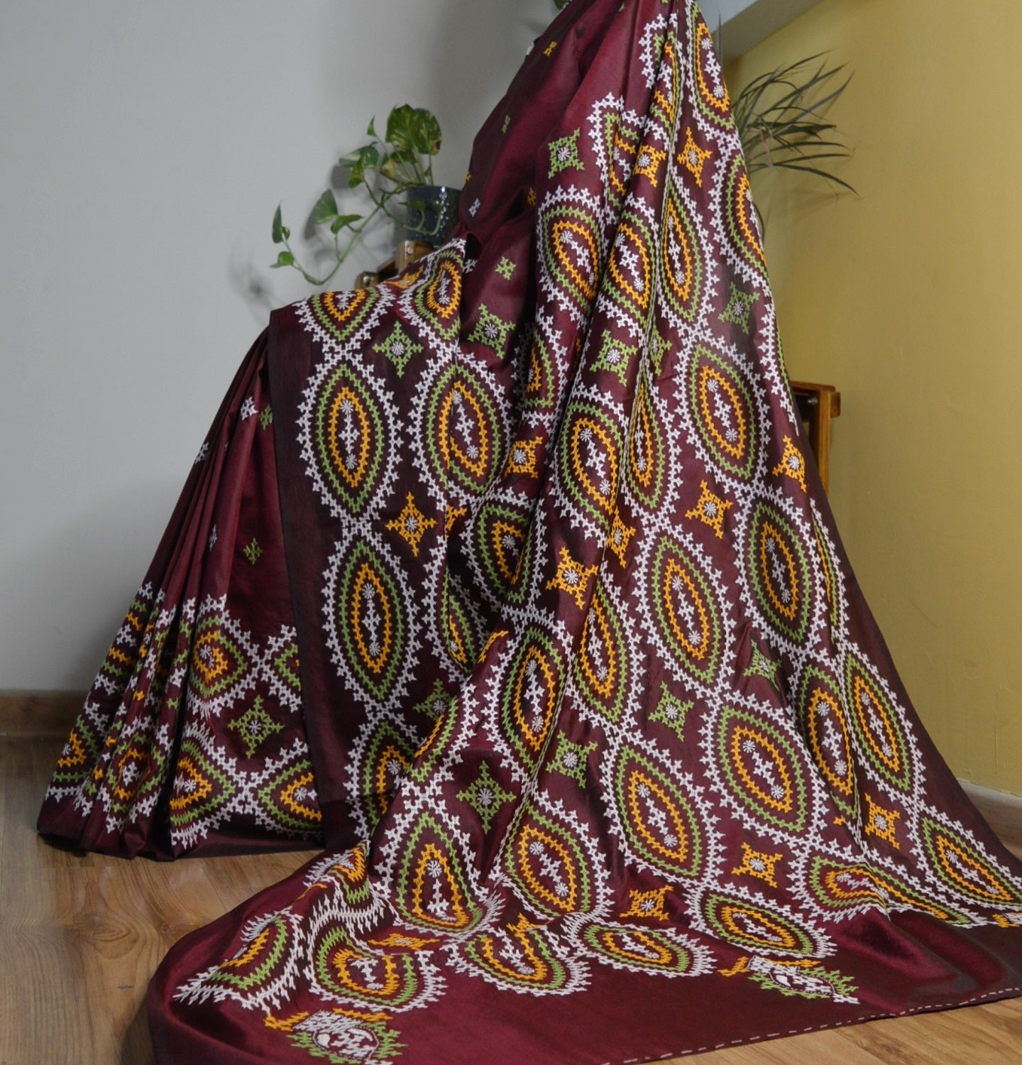 KUTCHWORK SILK SAREE