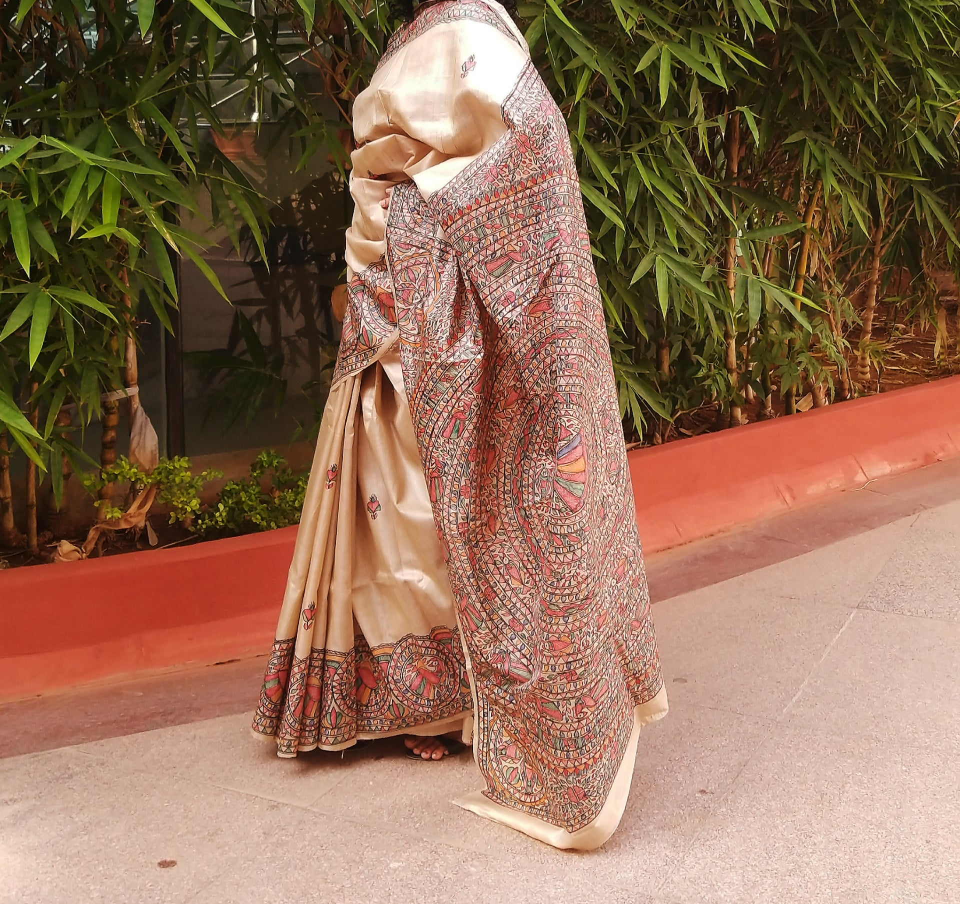 MADHUBANI HANDPAINTED SILK SAREE