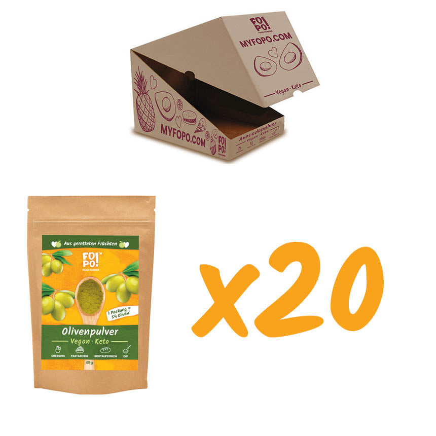 Olive Powder Bulk Pack  20 x 40 g  - save 20 EUR!