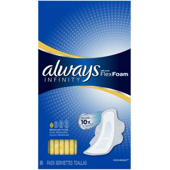 Always Infinity Unscented Pads with Wings Regular Flow