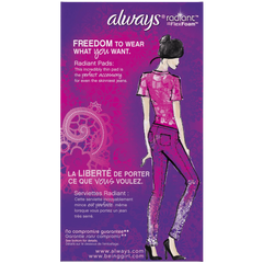 Always Radiant Infinity Regular With Wings Scented Pads